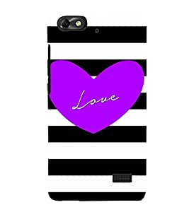 Love Blue 3D Hard Polycarbonate Designer Back Case Cover for Huawei Honor 4C :: Huawei G Play Mini