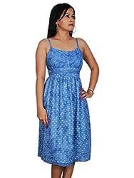Blue Fit & Flare Lades Party Wear Dress by Polita/ Designer Fit & Flare Dress For Ladies,Girls, Women's/ Self designer Women's Dress