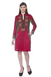 Rinku Sobti Women's Tunic (MAR-A3_Red_Small)