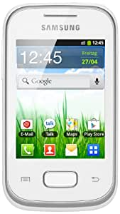 Samsung Galaxy Pocket S5300 Smartphone (7,1 cm (2,8 Zoll) Touchscreen, 2 Megapixel Kamera, Android 2.3) white