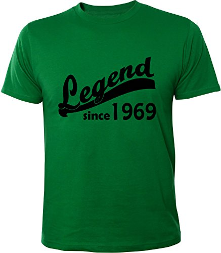 Mister Merchandise Uomo Men T-Shirt 46 47 Legend since 1969 , Maglietta Camicia Taglia: M, Color: Verde