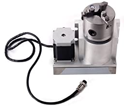 CNC Router Rotational Axis,CNC Machine Accessory F Style A-Axis, 4th-Axis, Rotary Axis with 80mm 3-Jaw Scroll Chuck
