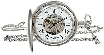 Charles-Hubert Pocket Watch 3789-W Chrome Plated Hunter
