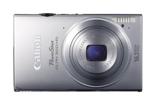 Canon PowerShot ELPH 320 HS 16.1 MP Wi-Fi Enabled CMOS Digital Camera with 5x Zoom 24mm Wide-Angle Lens with 1080p Full HD Video and 3.2-Inch Touch Panel LCD (Silver)