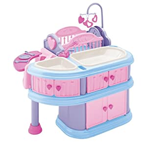 Doll high chair american plastic toy deluxe nursery - American Plastic Toy Deluxe Nursery Cheap Dolls Amp Girls