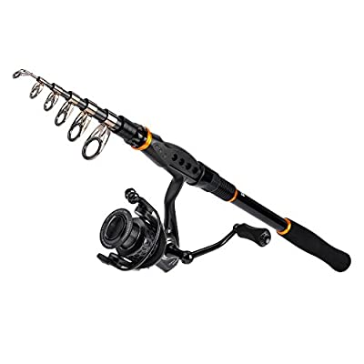 Kastking combo spinning reel spinning travel fishing rod for Open reel fishing pole