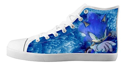 LeonBin Custom Sonic The Hedgehog Unisex Boys Canvas Shoes High-top Sneakers For Kids (Sonic The Hedgehog Sneakers)