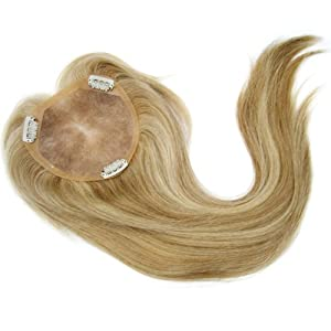 Remy Human Hair Mono Hairpiece, Closure, Top Hair Piece Y-500M#, Straight