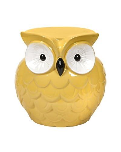 Mini Hoot Owl Yellow Garden Stool