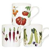 Churchill China Royal Horticultural Society Mug, Set of 6, Benary Design on Earth Mug Shape, Assorted Designsby Churchill China