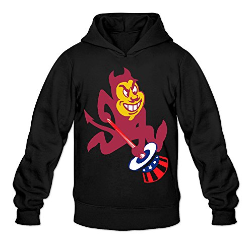 AUGU Men Arizona State New York Sports Hooded Sweatshirt Black (Tablet Daewoo compare prices)