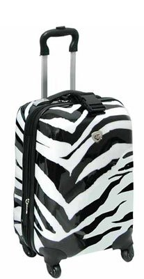 Click to buy Best Carry On Luggage: International Traveller Shiny Zebra 19