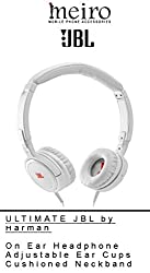 On Ear Headphones by JBL Tempo with Mic and Remote Control presented by Meiro NYC - White