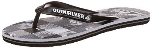QuiksilverMolokai Check R M Sndl Xksw - Sandali infradito Uomo , Grigio (Gris (Black/Grey/White)), 44
