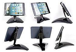 360 ¡ £Degree Rotating Stand adjustable Mount Holder Bracket for iPad mini,iphone,Phone and pad 12cm-16cm--black