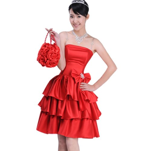 Buluos Short Cute Chinese Wedding Dress Cheongsam