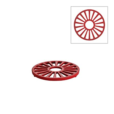 Tramontina Enameled Cast Iron Round Trivet, 7-Inch, Gradated Red