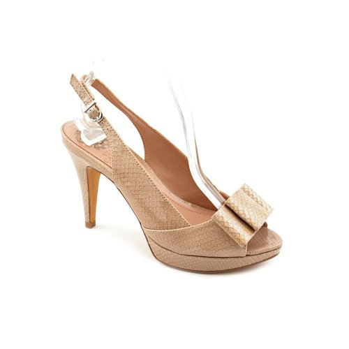 Vince Camuto Ava Womens Size 6 Nude Patent Leather Open Toe Shoes New Display