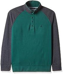 Nautica Men's Cotton Sweatshirt (8907259499079_NTK533973UW_XX-Large_Hunter Green)