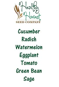 Spring Planting Vegetable Seeds: 7 Varieties! Cucumber, Radish, Watermelon, Eggplant, Tomato, Green Bean and Sage Seeds