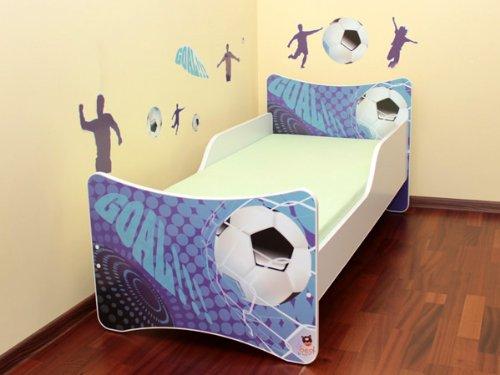 Best For Kids LIT POUR ENFANT 70x140 Goal + Matelas + à lattes + Labels