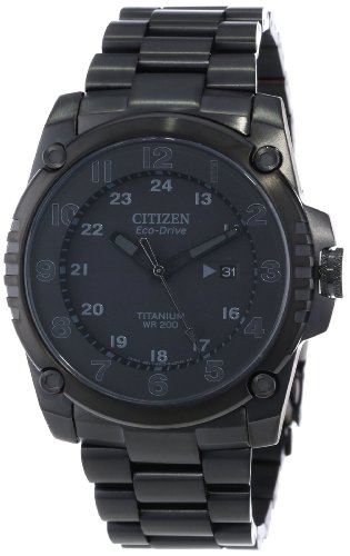 Citizen Men's BJ8075-58E Eco-Drive STX43 Shock-Proof Black Titanium Watch