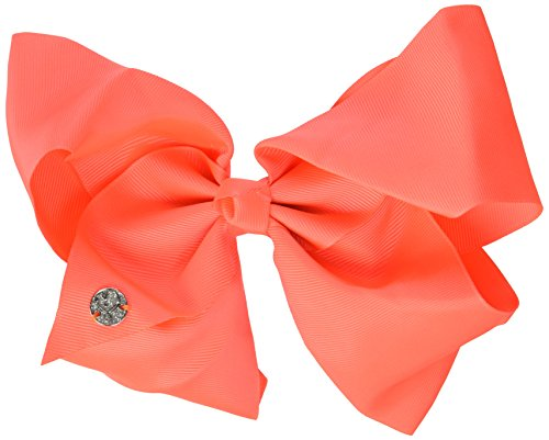 JoJo Siwa Signature Collection HAIR BOW with Rhinestone Keeper Neon Coral Basic BOW