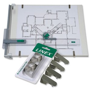 LINEX DRAWING BOARD CLIPS PK4 SILVDBC4