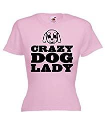 Funny Ladies T-Shirt 'Crazy Dog Lady' Great Christmas Gift for Pet Lovers!