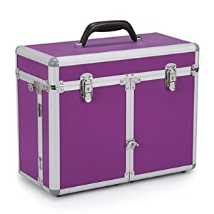 Top Performance Aluminum Professional Grooming Tool Case, Purple