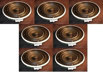 Digital Audio In Ceiling Speaker 6.5 Inch Low Profile 7.1 Surround Sound Coaxial Pivoting Tweeter Speaker Solution (Set of 7) Ideal for keeping matched drivers fro exact studio 7.1 surround sound!