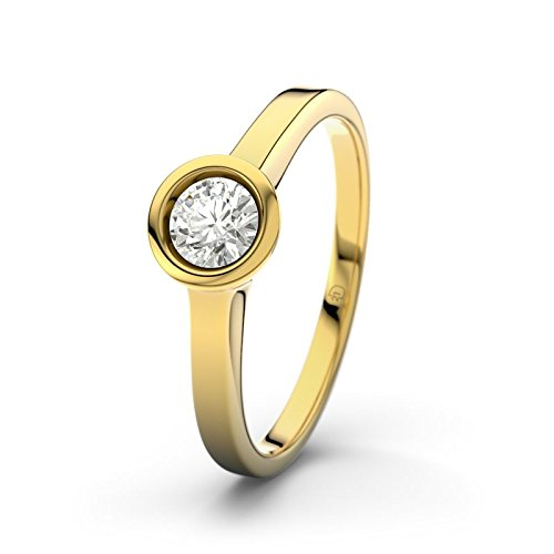 21DIAMONDS Women's Ring Durban 0.25 ct Brilliant Cut Diamond Engagement Ring 14ct Yellow Gold Engagement Ring