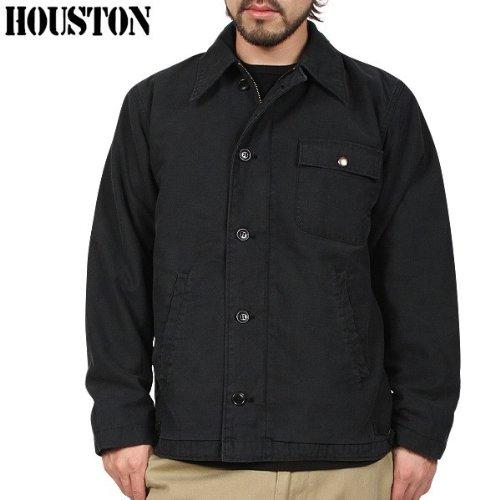 WIP独占販売モデル HOUSTON ヒューストン 米軍 A-2 デッキジャケット USED加工 BLACK 40(L)