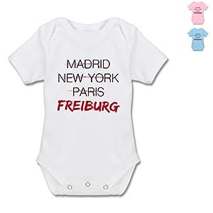 X953 Baby Säugling Strampler Body kurzarm Envelope Ausschnitt Cotton Baby Bodysuit - Städte & Länder Baby - Weltstadt Freiburg