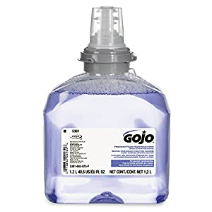 GOJO TFX Refill, 5361-02 - Premium Cranberry Scented Foam Handwash with Skin Conditioner (1200 mL) - 2 Pack