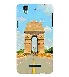 Fuson 3D Printed India Gate Designer Back Case Cover for Yu Yureka Plus - D670