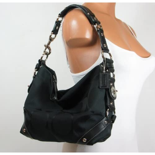 Coach Signature Carly Sac Shoulder Hobo Handbag Bag 32