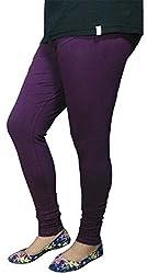 Anuze Fashions Purple Cotton Lycra Ruby Design Legging