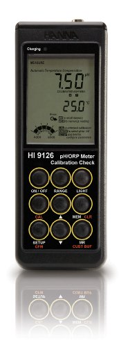 Hanna Instruments HI 9125-01 Portable pH/ORP Meter w/Multi Level LCD (115V Battery Charger)