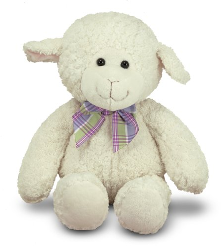 41qVkrxUGOL Melissa &amp; Doug Princess Soft Toys 16 Plush Lovey Lamb