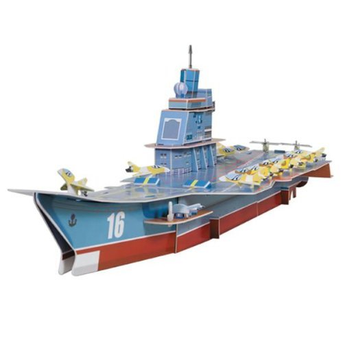 Dimart Educational 3D Model Puzzle Jigsaw Aircraft Carrier DIY Toy New wat phra kaew cubicfun 3d educational puzzle paper