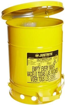 Justrite Galvanized Steel Oily Waste Safety Can