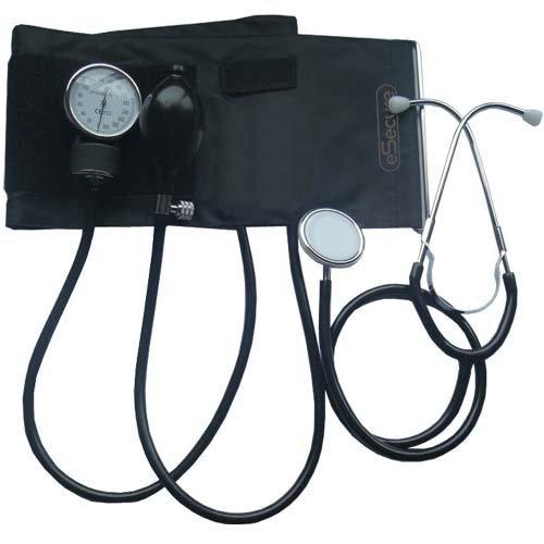 eSecure Tensiomètre/ Sphygmomanomètre anéroïde Pression sanguine mètre moniteur + Stéthoscope gratuit