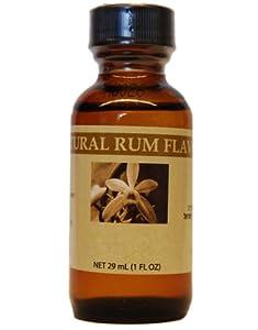 Bakto Flavors Natural Rum Flavor, 29 ml (1 Fl Oz)