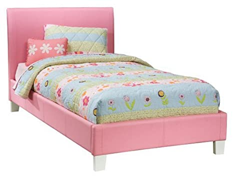 Fantasia Twin Upholstered Bed in Pink by Standard Furniture
