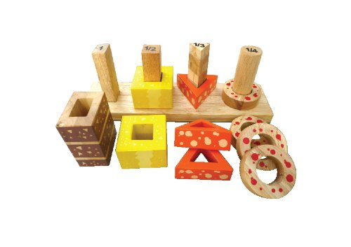 QToys Australia Sorting And Counting Cakes (Wooden Toys) - 1