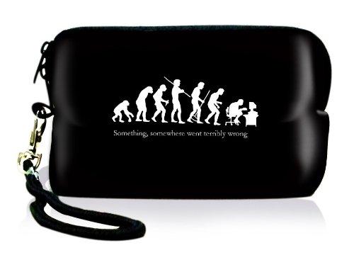 Outdoor Kameratasche digital Kamera Schutzhülle für kleine Digitalkameras aus Neopren, wasserabweisend und stoßabsorbierend / shock proof, mit Reissverschluss, Kordel und Karabinerhaken. Von e-port24®.