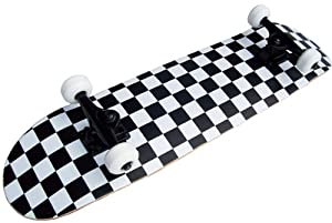 PRO Skateboard Complete Pre-Built CHECKER PATTERN 7.75