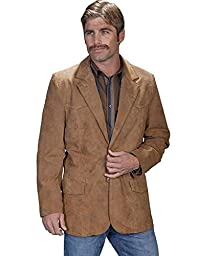 Scully Leather Mens Western Sportcoat Blazer Jacket Button Front Maple 54
