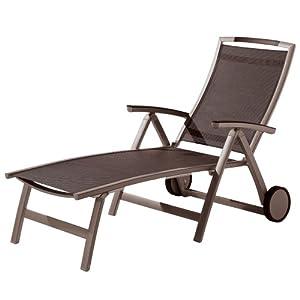 sieger 351 mr m trento bain de soleil pliant avec roues en aluminium plastique et tissu. Black Bedroom Furniture Sets. Home Design Ideas